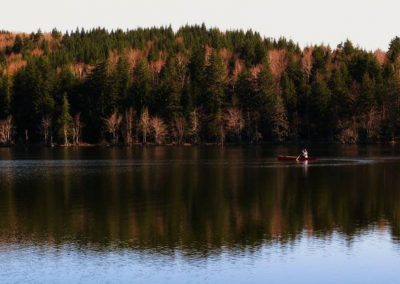 Canoe On Leake Lake NS